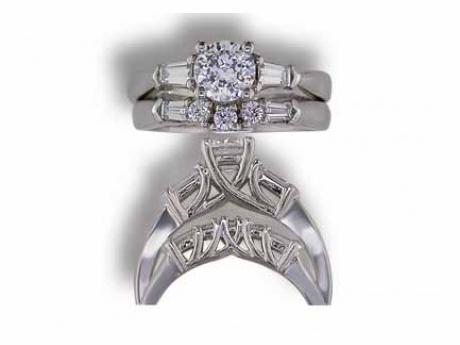 Bridal Jewelry - Diamond Baguette Semi Mount - image #2